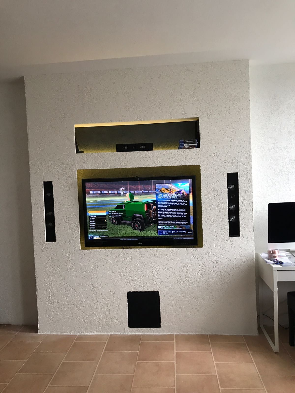 Diy Tv Wall Unit Inside The Wall 1) Tv 47
