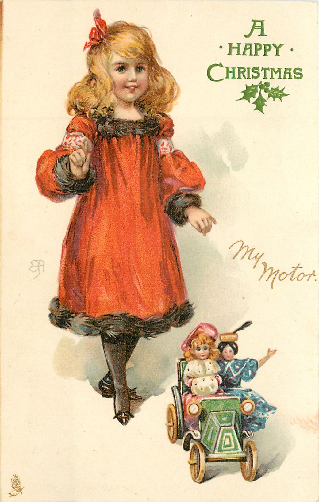 Открытки старинных кукол