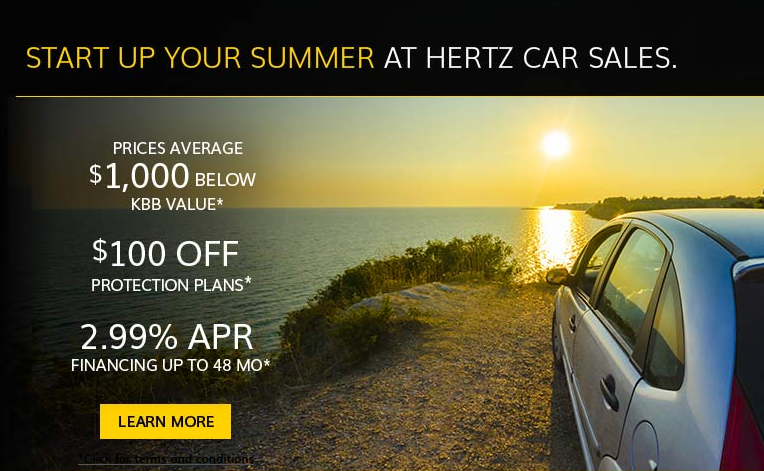 Start Up Your Summer At Hertz Car Sales Visit Our Website For Terms And Conditions Hertz Car Sales Cars For Sale Buy Used Cars