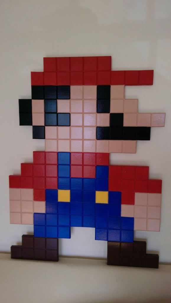 8 Bit Mario From Wood Mario Room Nintendo Room Mario Bros Room