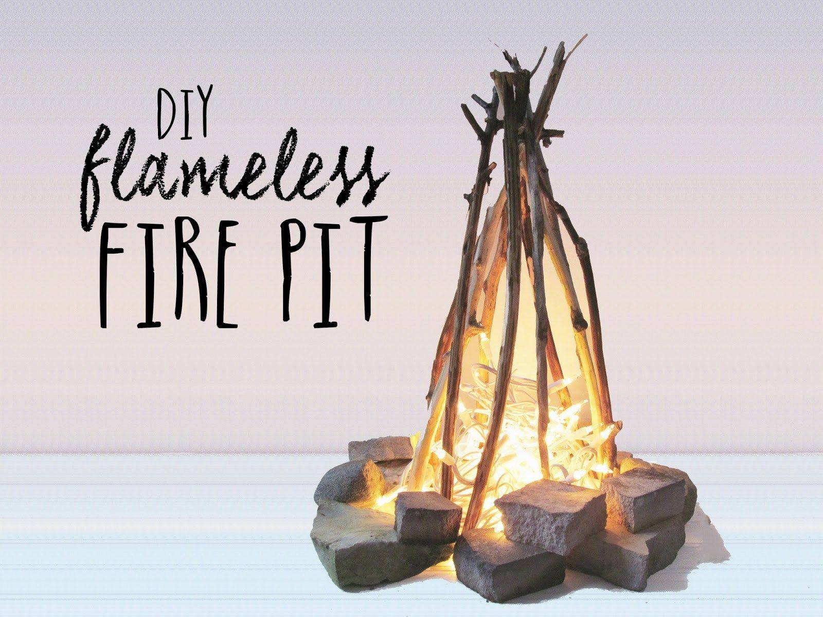 DIY Flameless Fire Pit Pinterest