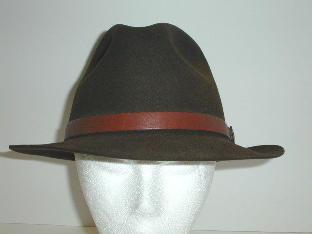 Vintage Mens FLECHET CHAPEAU Brown Fur Felt Hat Size Medium 7-7 1/8  EUC #Fletchet #FedoraTrilby