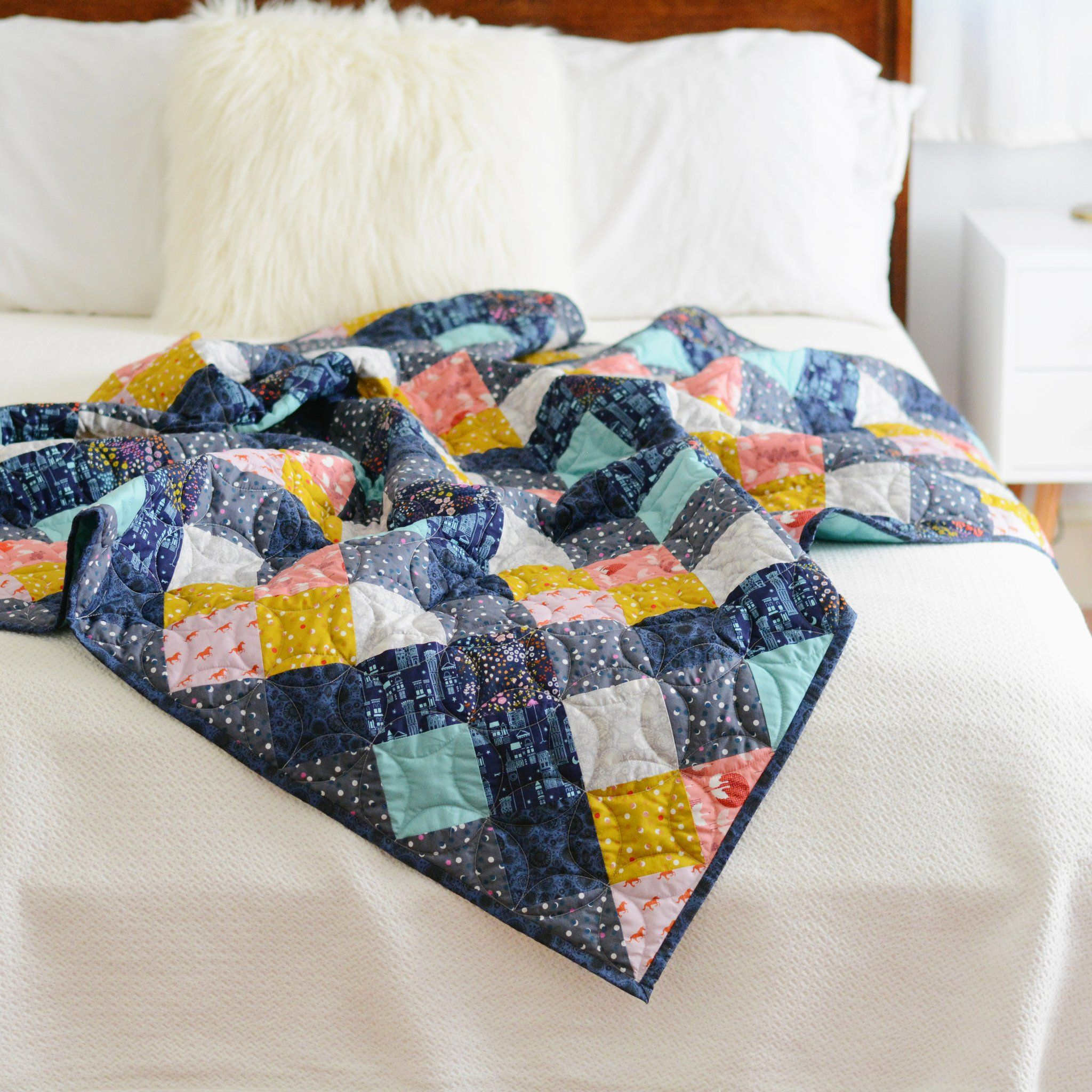 Seeing Double Quilt Pattern - PDF – Then Came June, Modern Quilt, Beginner Quilt