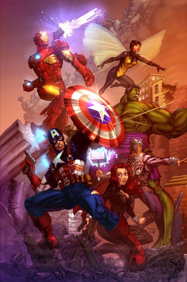 Avengers Assembled colour  by `vest