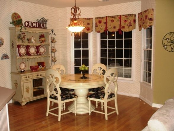 Country family rooms eclectic french country family room for Country living kitchen designs