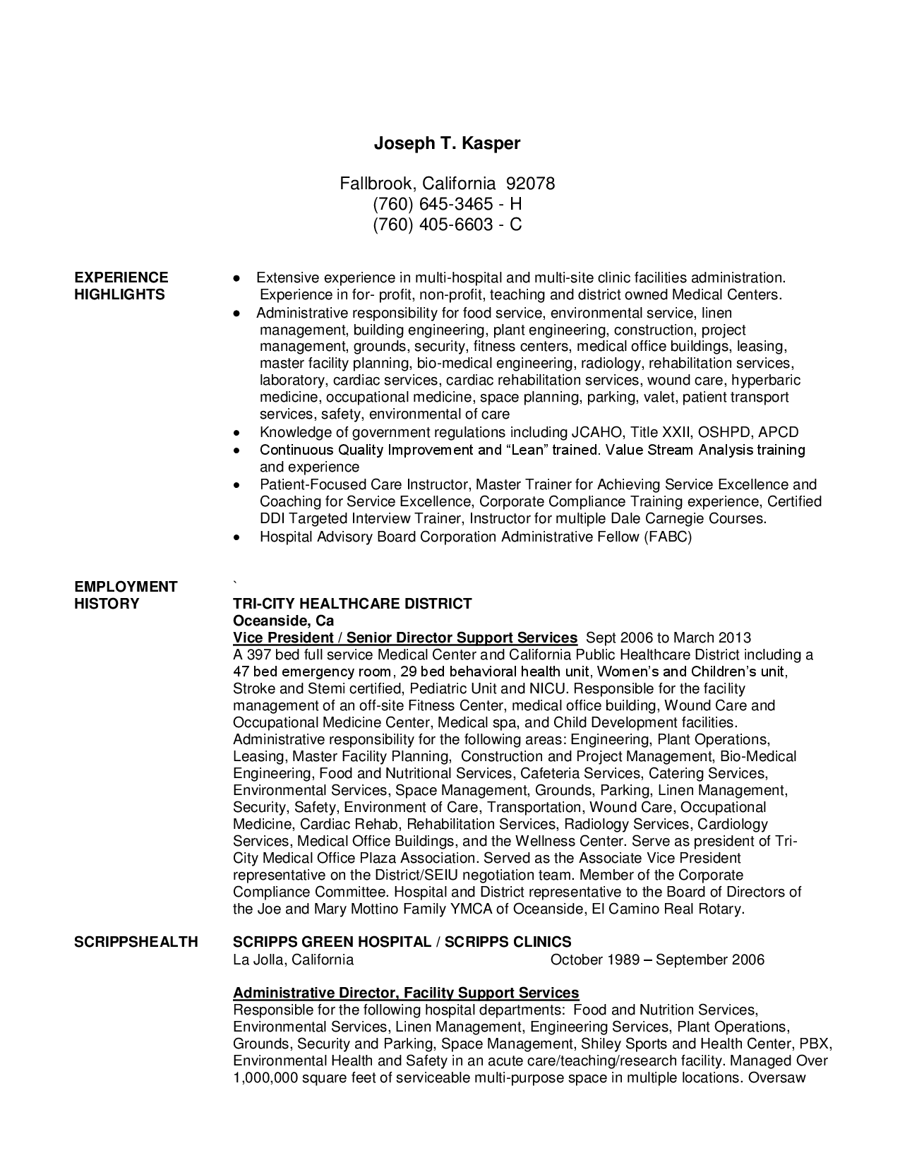 Resume For A Hospital Housekeeper Duties In Nursing - Opinion of ...