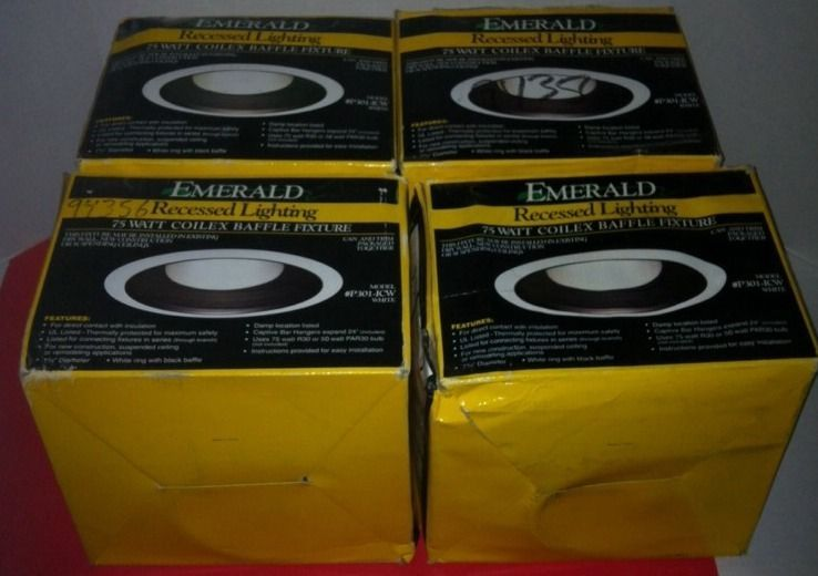Wholesale lot of 4 emerald recessed lighting 75 watt coilex baffle wholesale lot of 4 emerald recessed lighting 75 watt coilex baffle fixture p301 emerald aloadofball Image collections