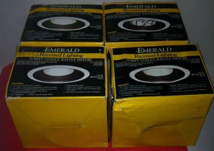Whole Lot Of 4 Emerald Recessed Lighting 75 Watt Coilex