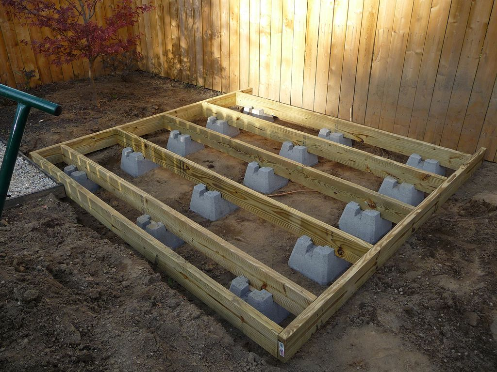 Concrete deck foundation blocks decks ideas building a