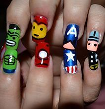 Comic Book Nail Art Things To Wear Pinterest Comic Book Nails