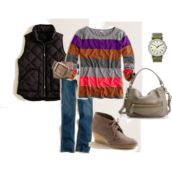 Wedge booties outfit