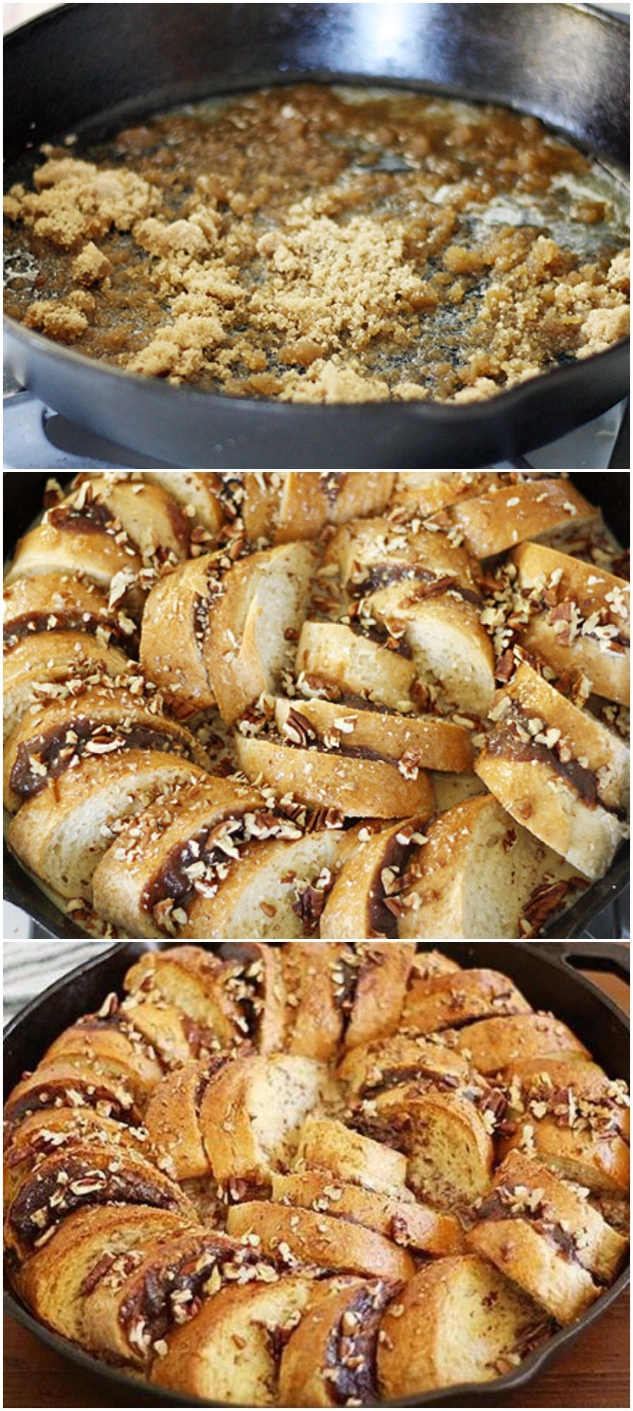 Skillet Apple Butter French Toast