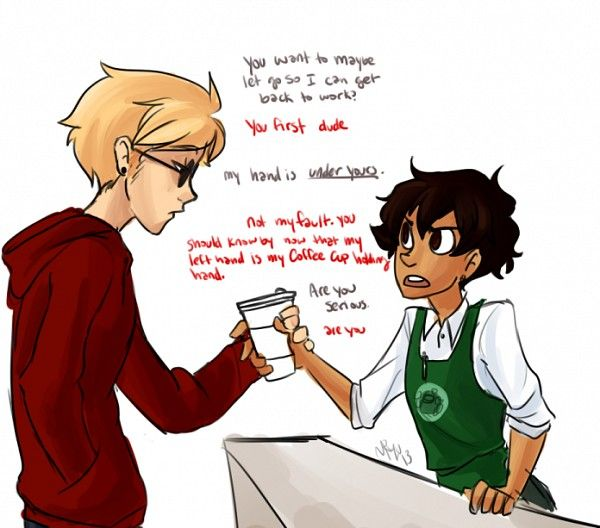 Dave Strider. seriously Dave? are you serious? <== Well I look exactly like Karkat in this fanart