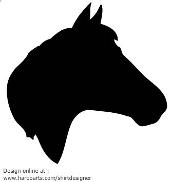 Horse Head Silhouette Vector Graphics Horse Head Horse Silhouette Horses