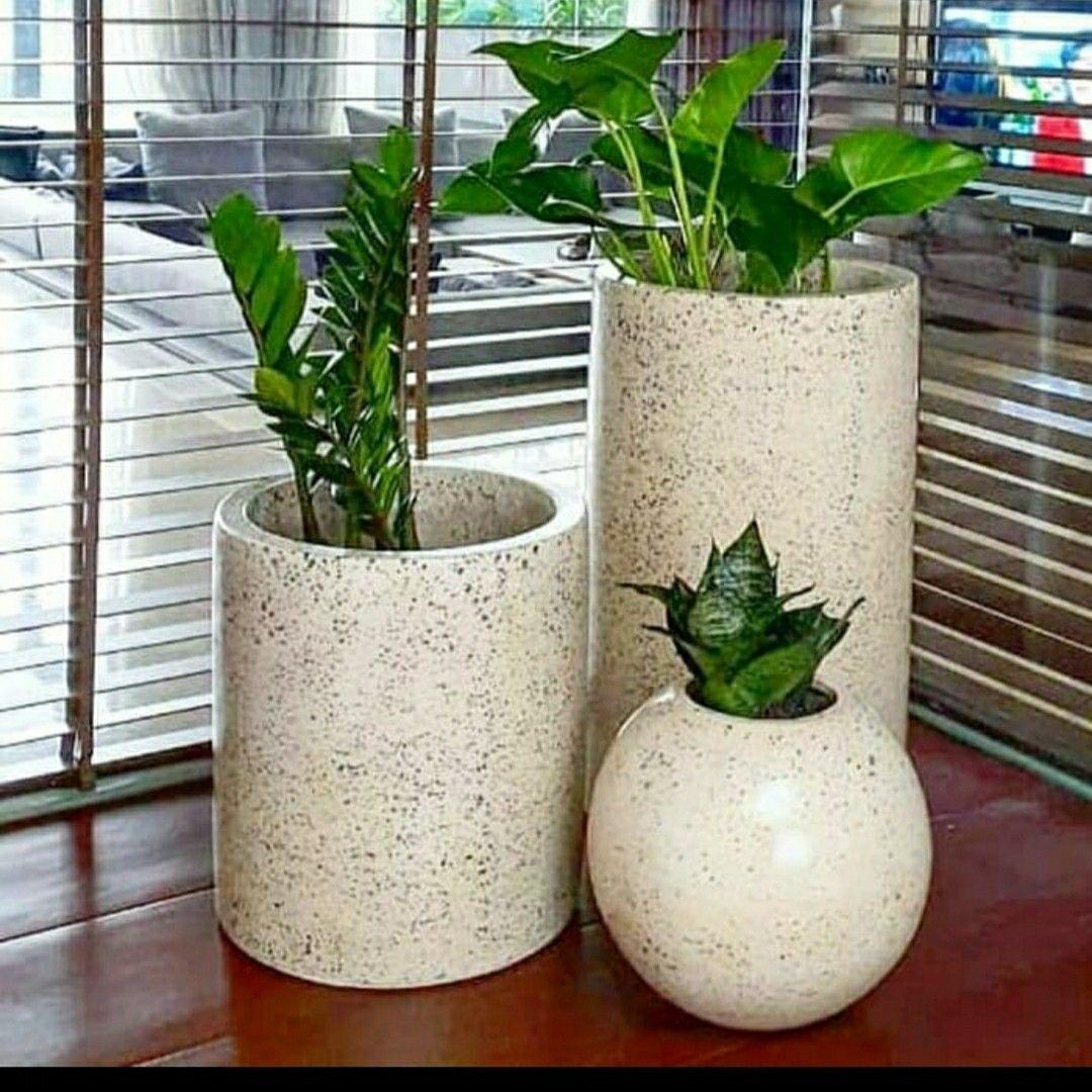 Pot Set Tipe Bintik Hitam Natural Di 2020 Desain Desain Interior Interior
