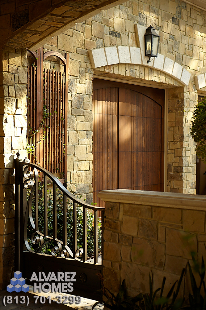 Side Gate at The Chateau by Home Builders in Tampa Florida Alvarez Homes - (813) 701-3299 The consistency and attention to detail is magnificent! http://www.alvarezhomes.com/tampa-home-builders-portfolio-of-homes/the-chateau