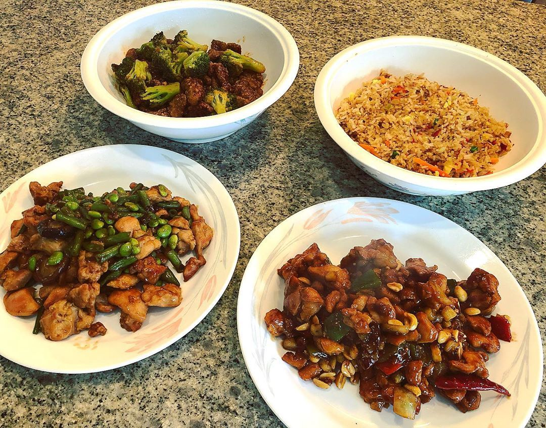 Home cooked chinese meal lunch yum yummy delicious