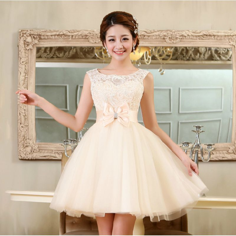 Lovely Club Prom Party Gown Bow Party Gowns for Women Tulle Lace ...