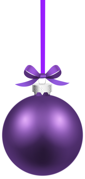 Purple Christmas Hanging Ball PNG Clipart Image