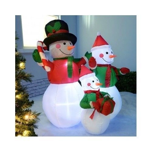 Christmas Inflatable Snow Man Outdoor Decorations LED 121cm Tall - christmas blow up decorations