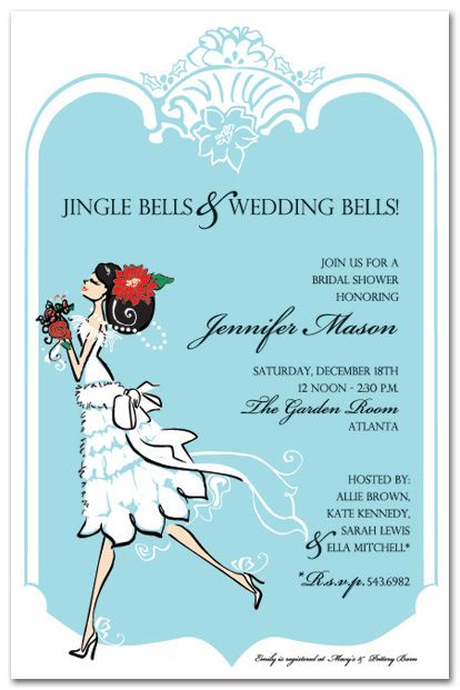 17 Best images about Christmas Wedding Shower Ideas – Christmas Wedding Shower Invitations