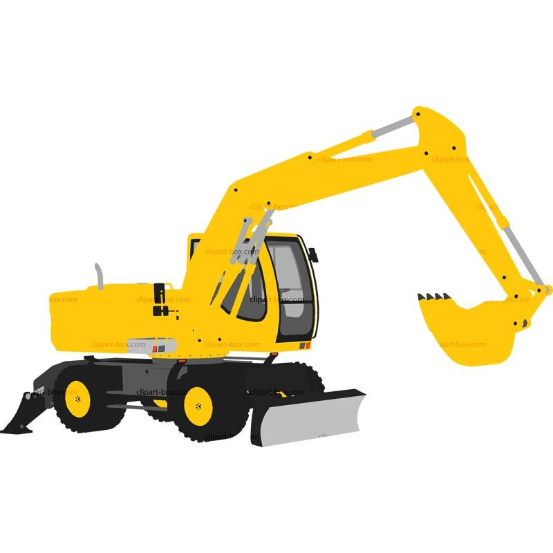 Clipart Excavator Royalty Free Vector Design Clipart