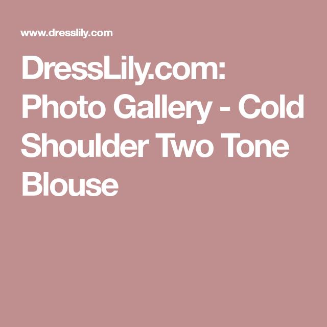 DressLily.com: Photo Gallery - Cold Shoulder Two Tone Blouse