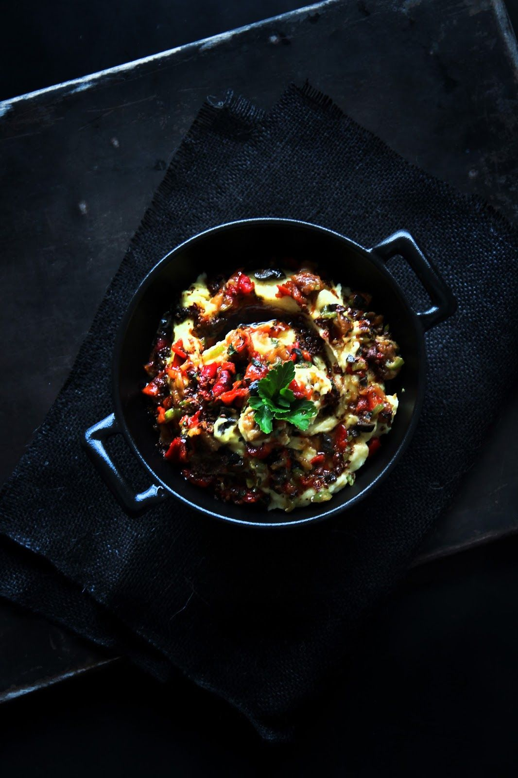 fork and flower: roasted peppers mashed potatoes