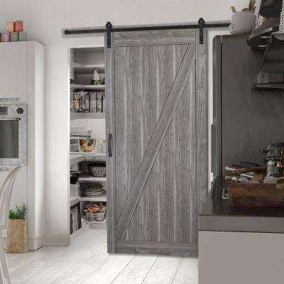 Masonite 36 In X 84 In Z Bar Ash Gray Finished Composite Interior Sliding Barn Door Slab With Hardware Kit 17118 The Home Depot In 2020 Interior Closet Doors Interior Sliding Barn