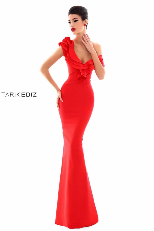8030d4ffd68 Сексуальное платье красного цвета Tarik Ediz 50206  longformalgowns   sexybridesmaiddresses