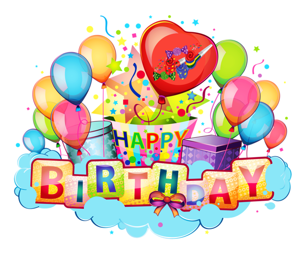 Happy Birthday Decor Transparent Clipart Picture Happy Birthday Hd