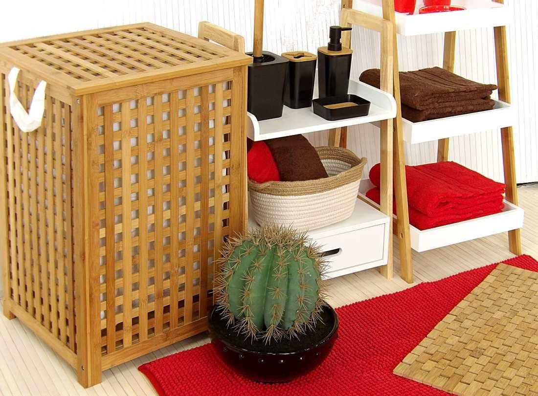Mueble Auxiliar Bano Bambu
