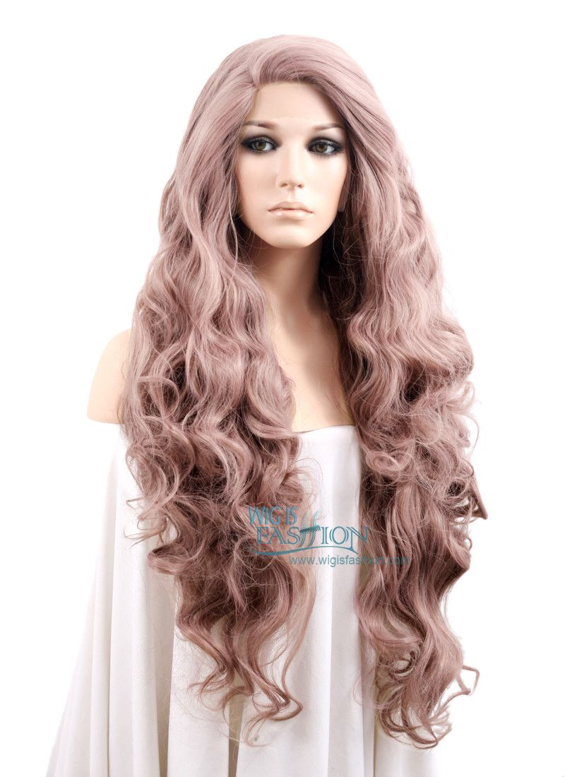 28 wavy ash purple lace front synthetic wig lf696h per cke und haar. Black Bedroom Furniture Sets. Home Design Ideas