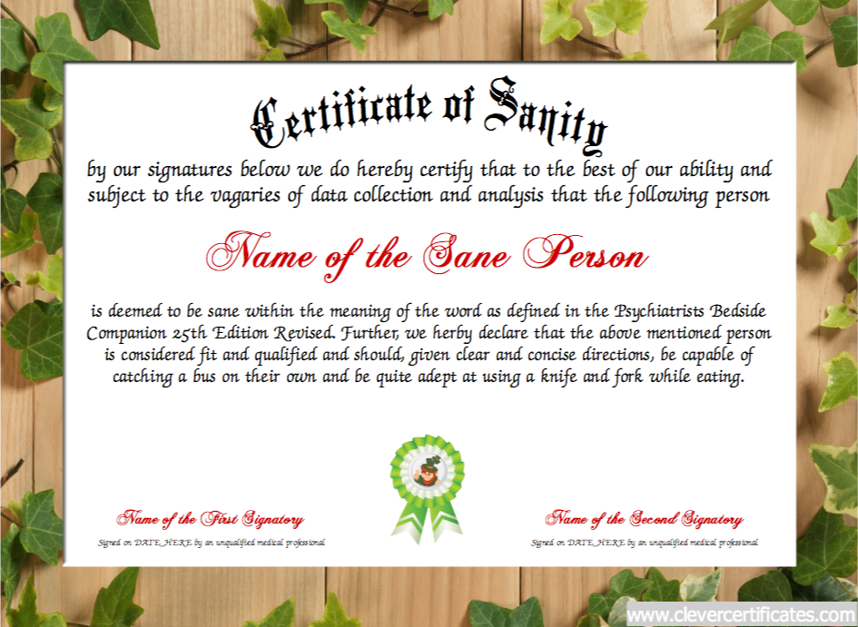 Certificate of sanity free certificate templates you can add certificate of sanity free certificate templates you can add text images borders yadclub Images