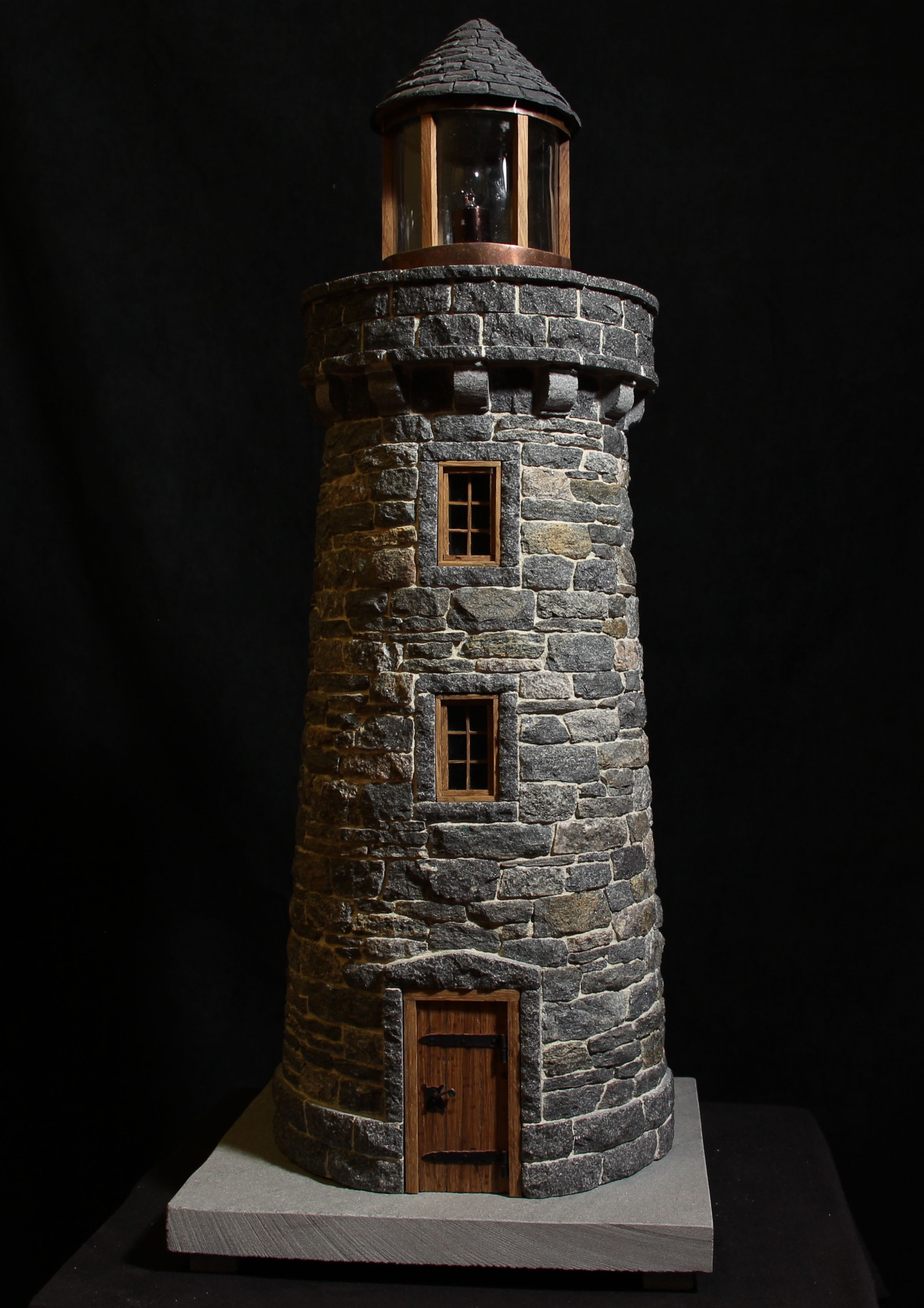 Lighthouse decor for patios lighthouses nautical dcor a miniature stone lightehouse sciox Image collections