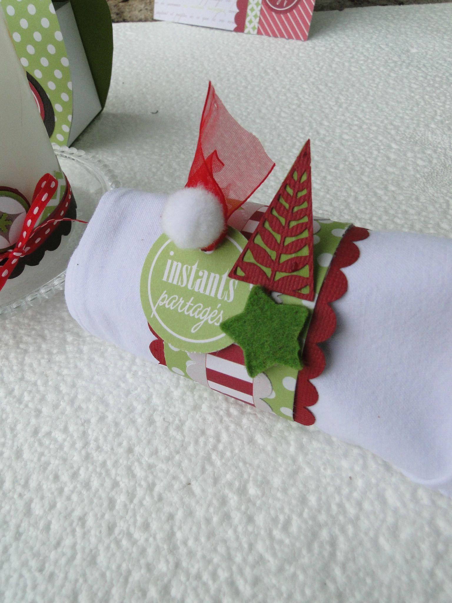 Rond De Serviette Noel Fait Maison décoration de table   ronds de serviette noël, scrapbooking