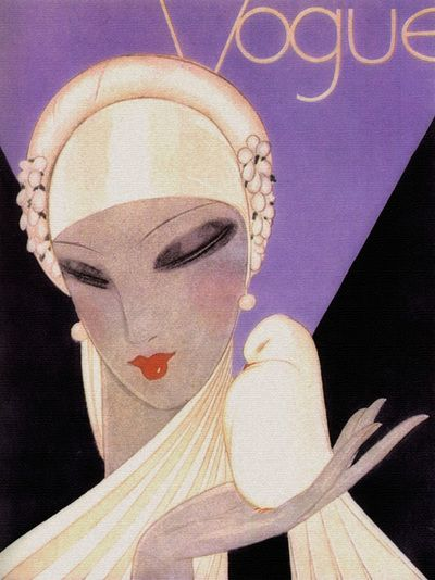 monsieur-j: Vogue April 1927 - Cover by Eduardo Garcia Benito
