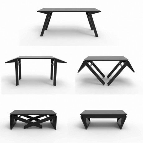 Duffy London Table Converts From Dining 30 High To Coffee 13 29 Wide Extends 50 57 Or Xl 39 67