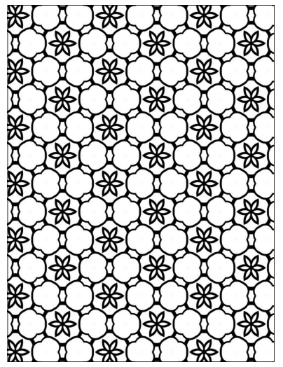 free printable geometric floral stars coloring page - Free Relaxing Coloring Pages