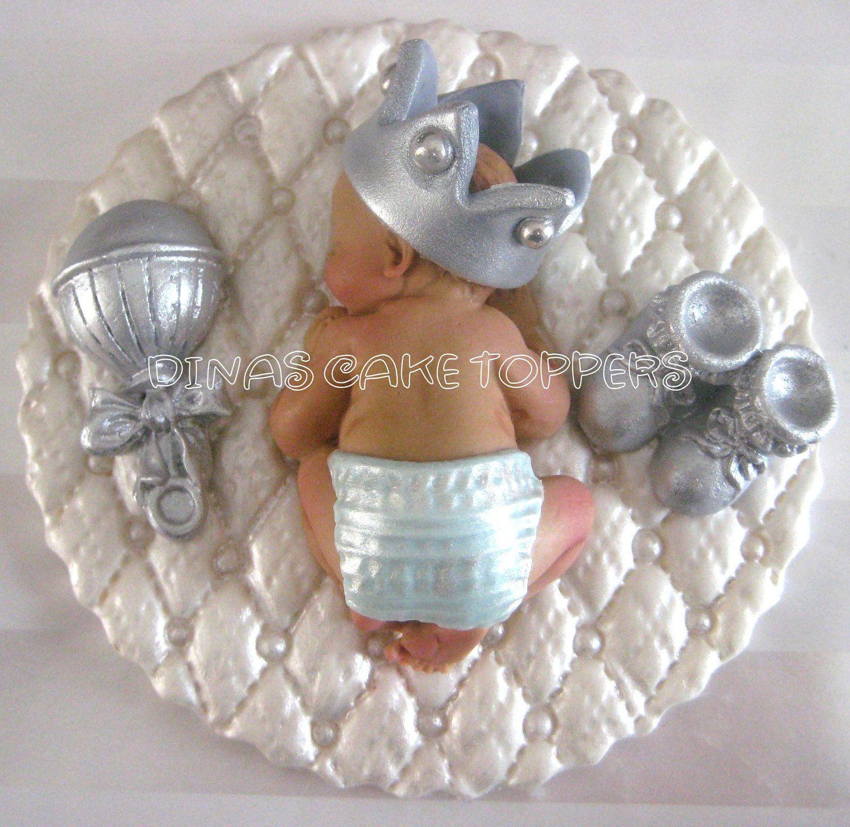 fondant boy Prince Baby Shower First Birthday FONDANT BOY Cake