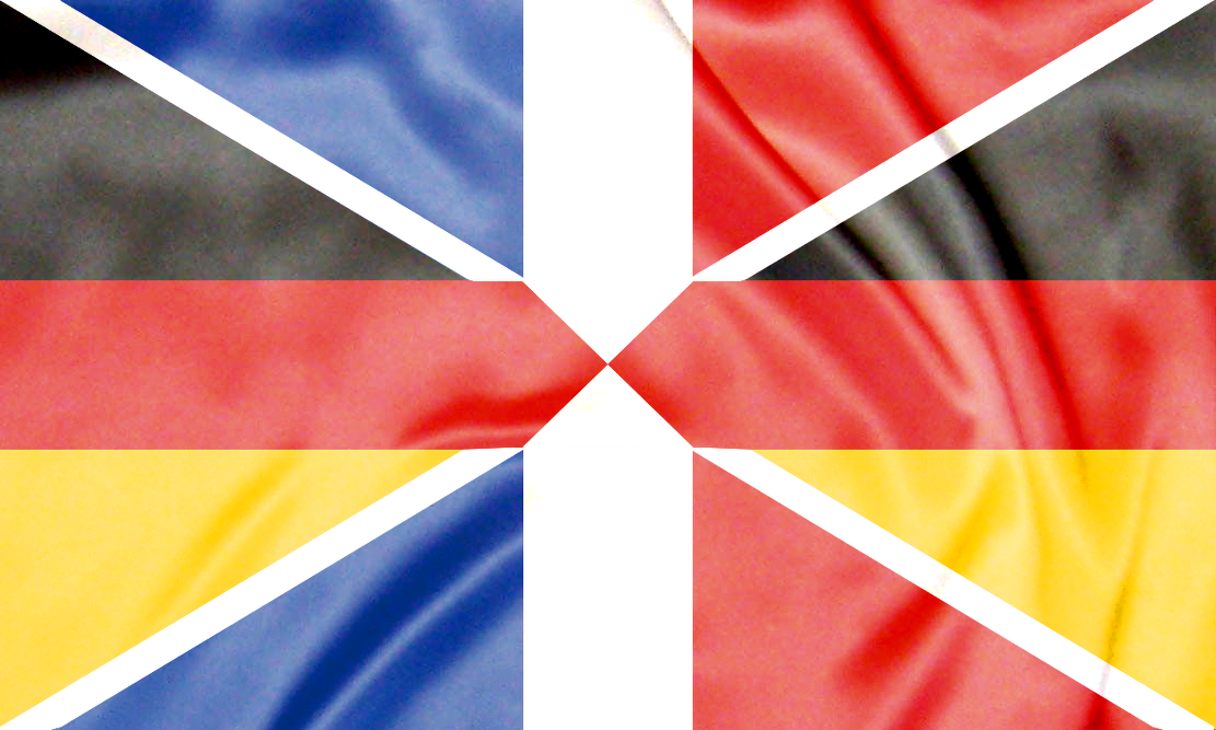 Franco German Flag It Is A Fusion Of The Two National Flags In A Fashion Not Unlike The Fusion Of The Flags Of England Flag Of Europe French Flag German Flag