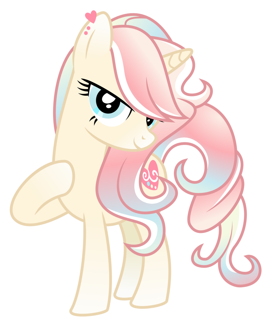Pastel heart sweet caring earth pony who loves art she is very creative and enjoys drawing with pastels most of all adopted