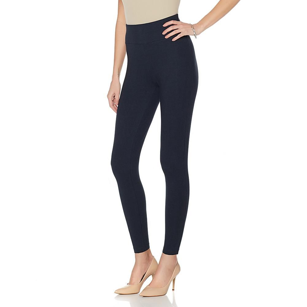 Diane Gilman DG LUXSPORT Comfort Waist Legging - Solid Colors - Blue