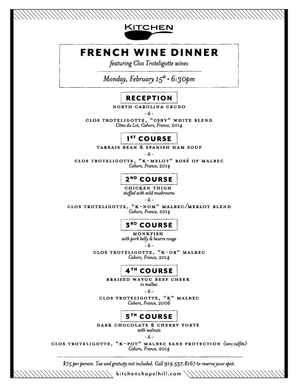 Menu at French Table - Picture of French Table, Bradenton Beach