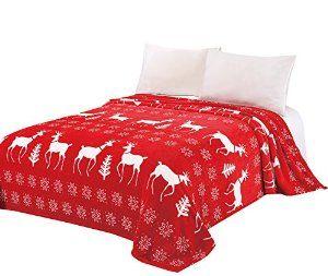 Christmas Red Reindeer Snowflakes