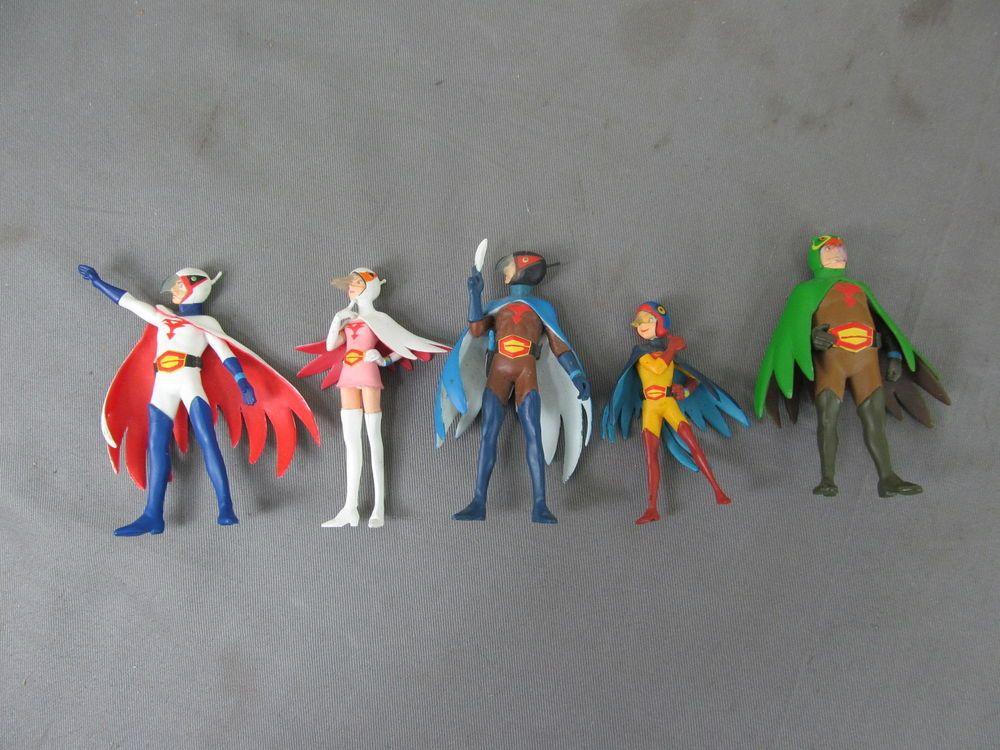 Gatchaman g force action figure set of 6 action figures