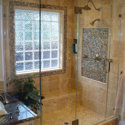 tile shower | window in shower, bathroom remodel shower