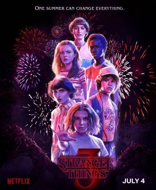 Season 3 poster Stranger things, Stranger things fanart