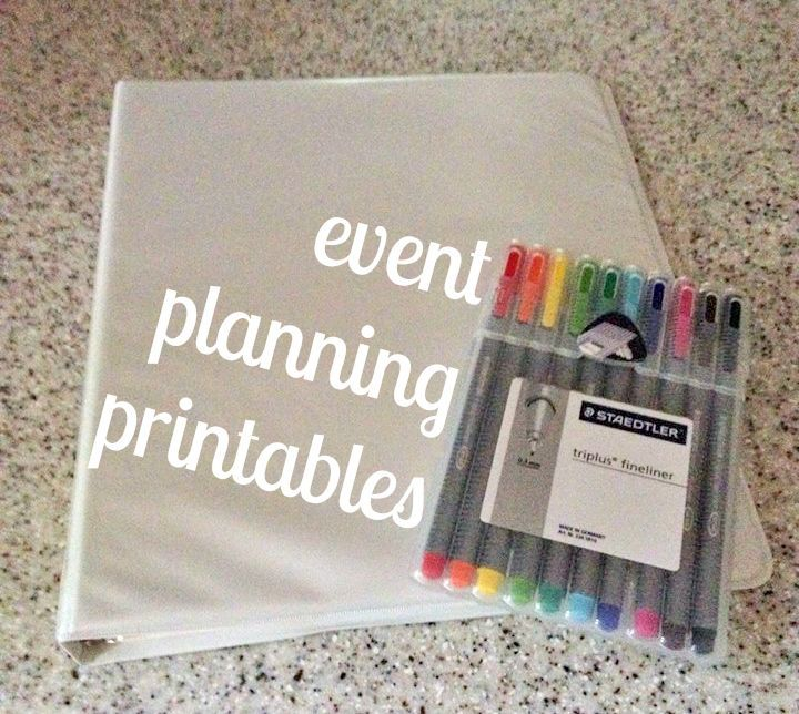 FREE Event Planning Printables! Courtney Em VFS fundraiser Pro - Event Plan Template