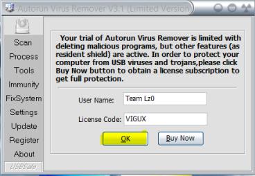 Autorun Virus Remover Keys 3 3 Version Free Download | All